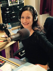 Laura Burton-Lawrence in the Channel Radio Studio