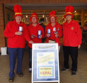 Rotarians raising money for the Shelterboxes at Morrisons Supermarket in Crowborough