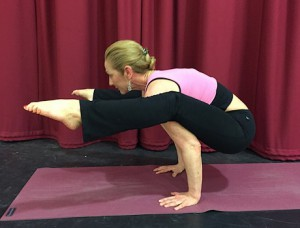 Yoga teacher Lin Bridgeford
