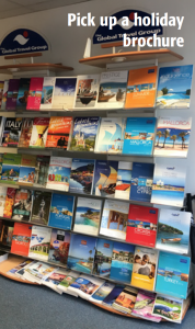 Pick up a holiday brochure