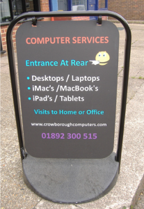 Street sign for Crowborough Computers