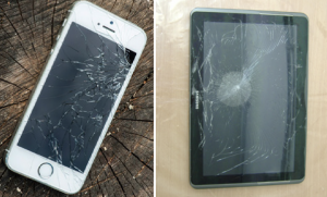 Cracked screens